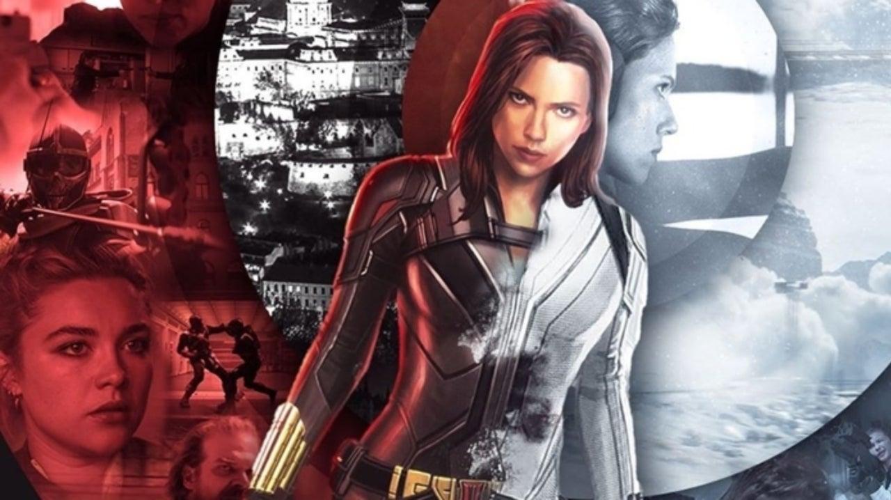 Arte con imágenes de la película de Black Widow
