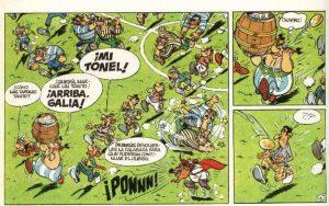 ilustración de Uderzo, de Astérix en Bretaña