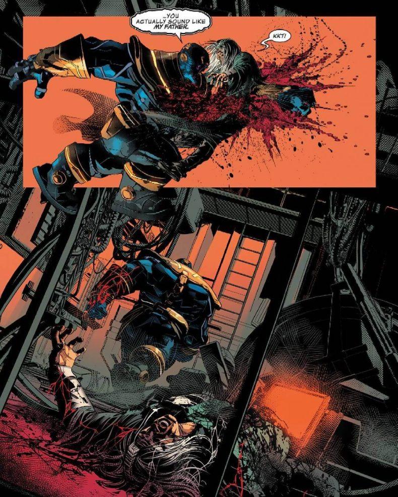 Thanos mata a su padre