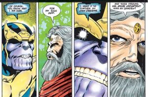 Thanos discute con el Jardinero