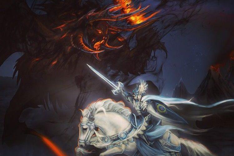 Fëanor contra el líder de los Balrogs