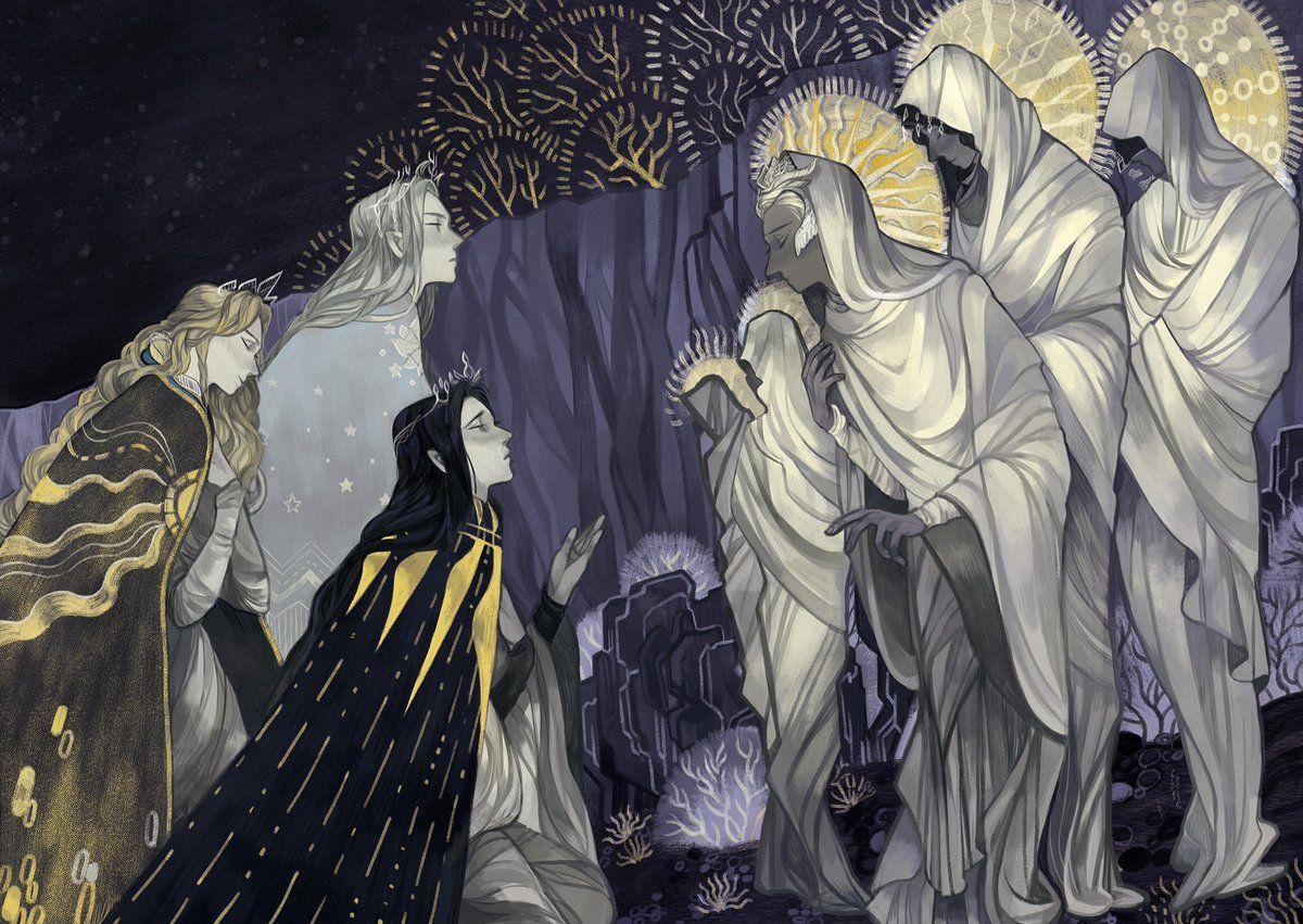 Primeros reyes elfos con los Valar