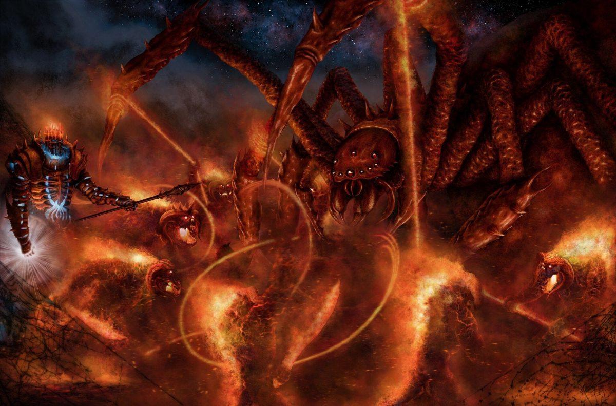 Ungoliant contra los Balrogs de Melkor