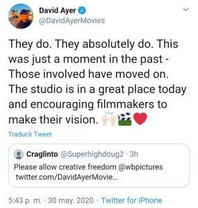 Tweet de David Ayer