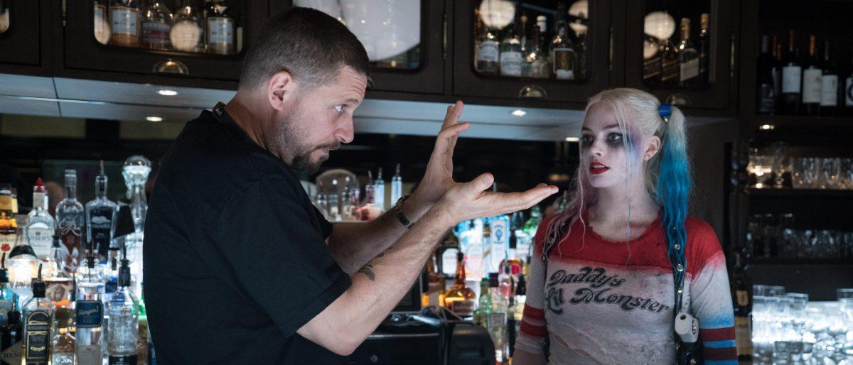David Ayer en el rodaje de Suicide Squad.