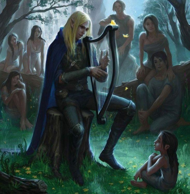 Finrod con los primeros hombres en Beleriand