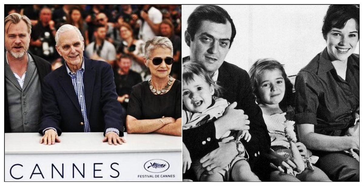 Katharina Kubrick en Cannes (Izquierda) y Katharina con su familia (Derecha)