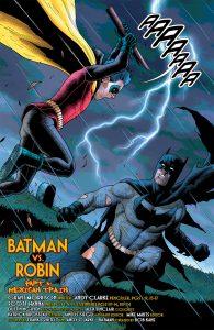 página Batman contra Robin Morrison