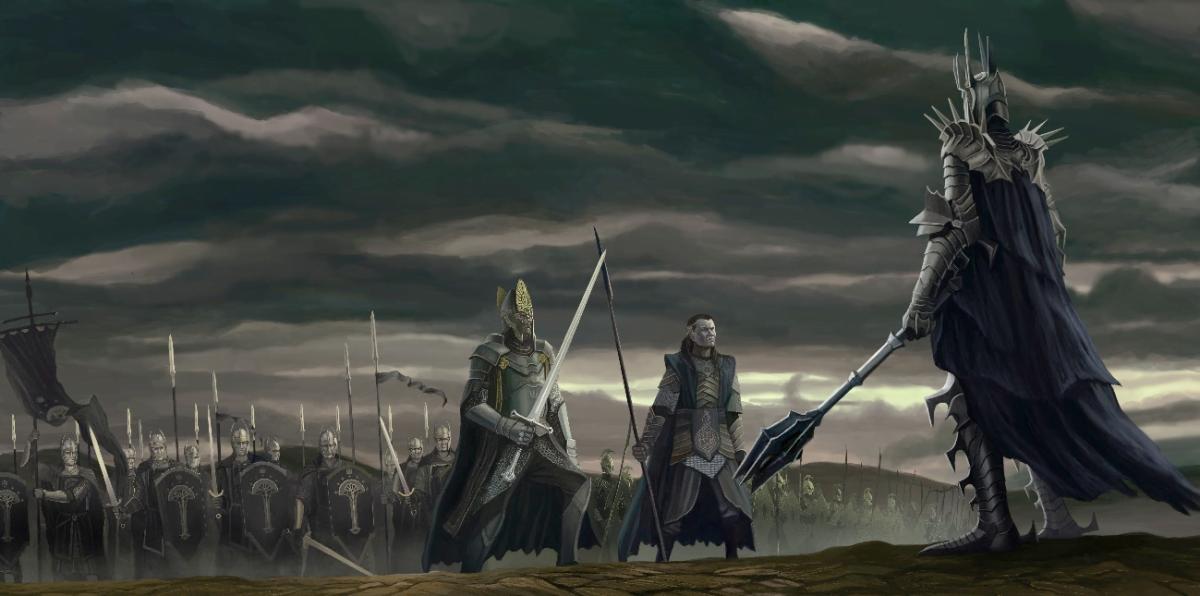 Gil-Galad y Elendil contra Sauron