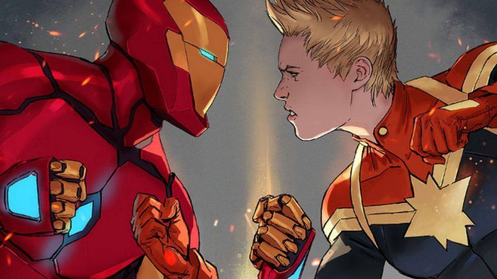 Iron Man vs Capitana Marvel