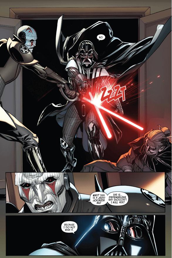Muerte de Jocasta Nu en Star Wars
