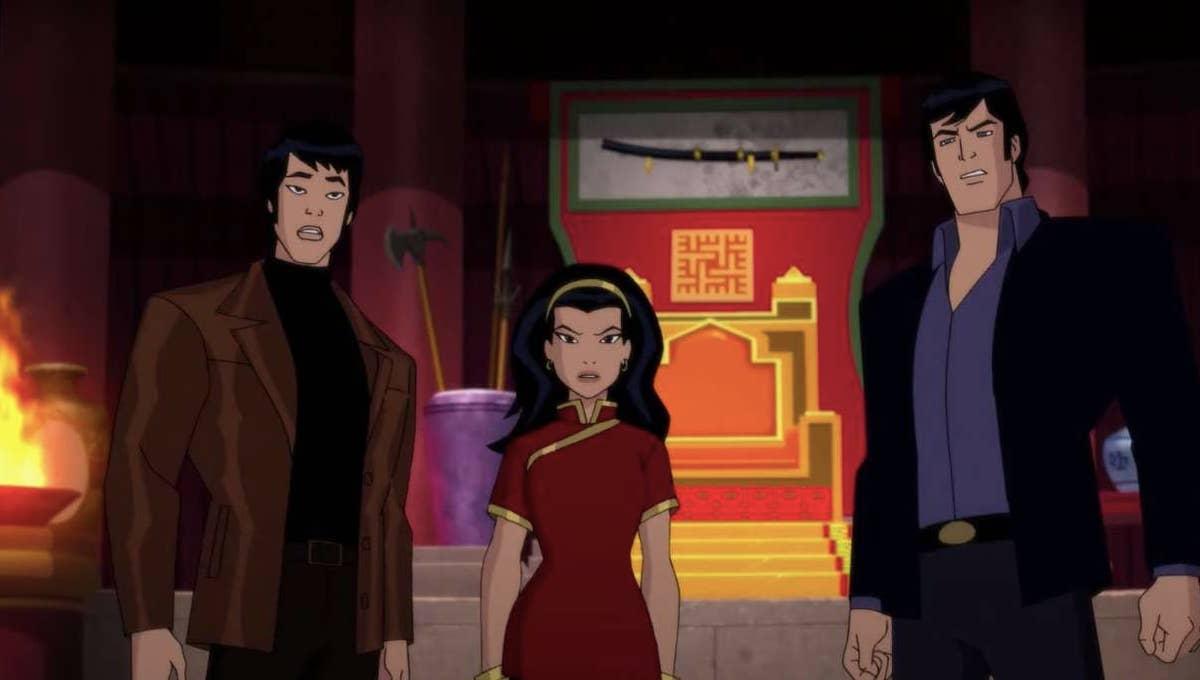 Richard Dragon, Lady Shiva y Bruce Wayne - Batman Soul of the Dragon