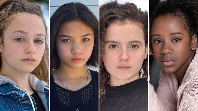 Las actrices protagonistas de la serie Paper Girls