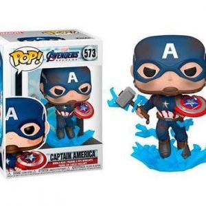 Funko Pop del Capitán América con el Martillo de Thor