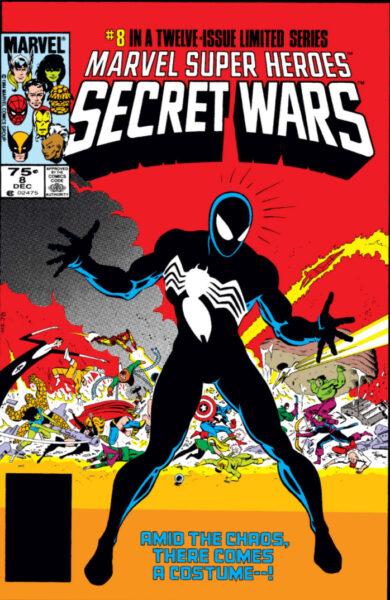 secret wars spiderman black suit