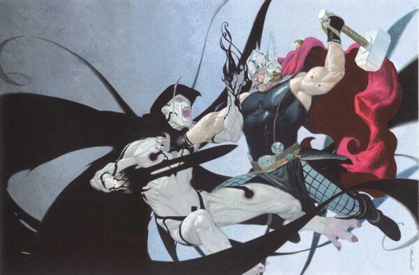 Thor y Gorr en Marvel Cómics.