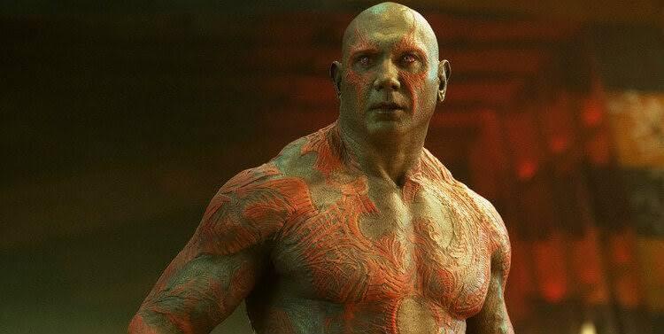Dave Bautista decepcionado de Marvel
