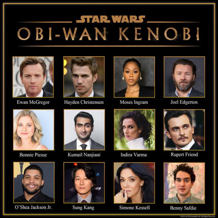 Todo el cast de la serie de 'Obi-Wan Kenobi'