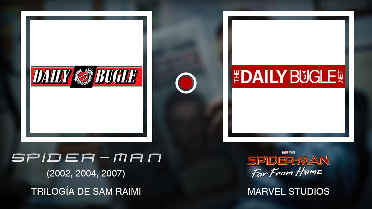 Logo Daily Bugle (Trilogía de Sam Raimi) vs del MCU
