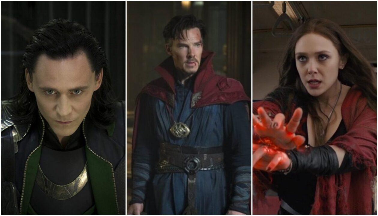 Loki, Wanda y Doctor Strange en el universo marvel