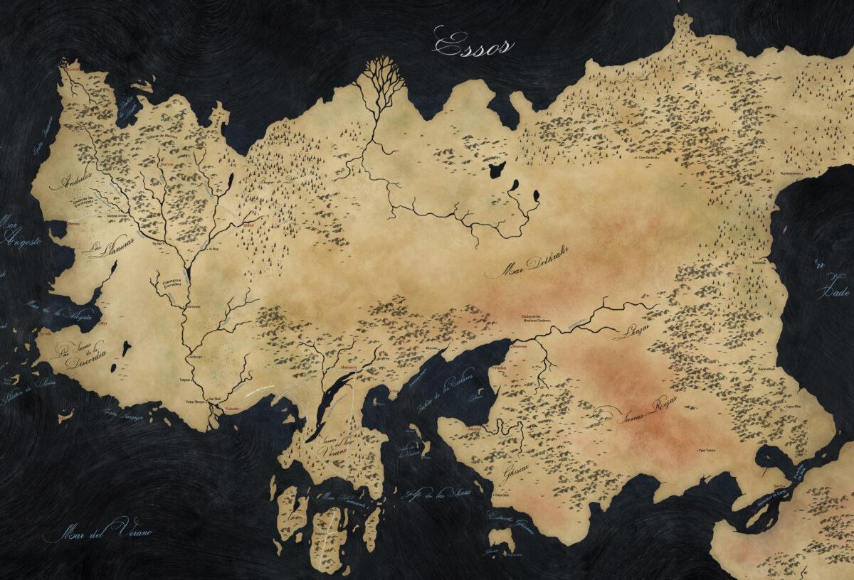 Essos mapa Juego de Tronos