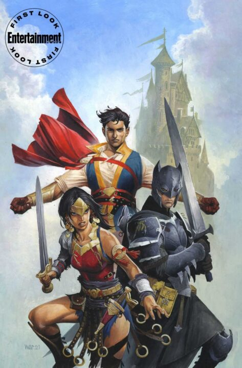 Superman Batman Wonder Woman Medieval