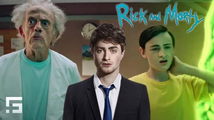 Daniel Radcliffe pudo haber interpretado a Morty en la promo de acción real de la serie
